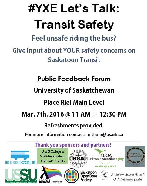 Safety forum Mar 7, 2016